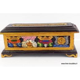 Brûle encens tibétain en bois