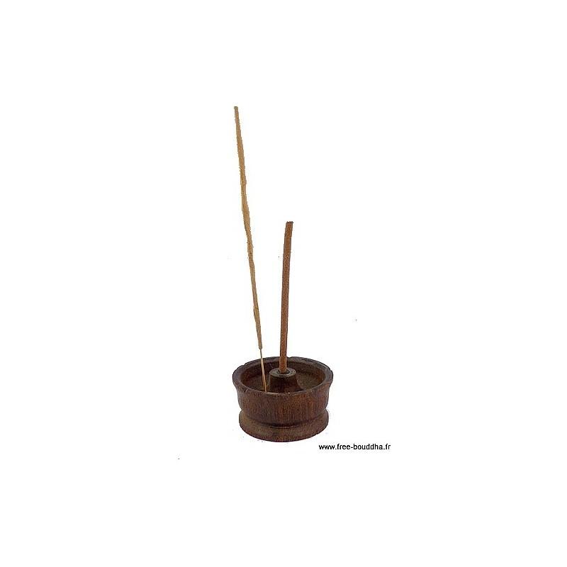 Porte-encens Lotus en bois naturel PEL1