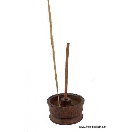 Porte-encens Lotus en bois naturel