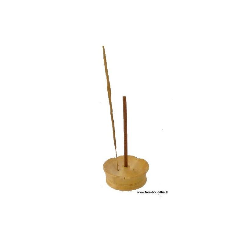 Porte-encens Lotus en bois clair PEL2