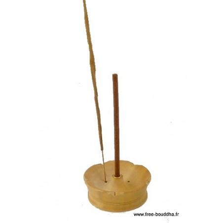 Porte-encens Lotus en bois clair