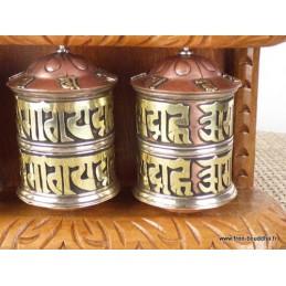 3 moulins à prières muraux tibétains MAPS3