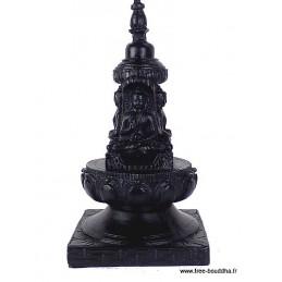 Stupa bouddhiste en résine noire
