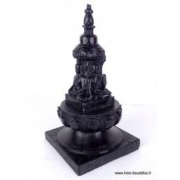 Stupa bouddhiste en résine noire STUPAN1