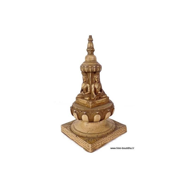 Stupa tibétain portatif en résine naturelle STUPAN2