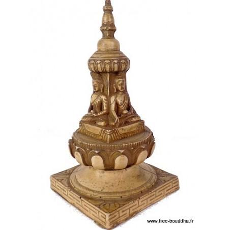Stupa tibétain portatif en résine naturelle