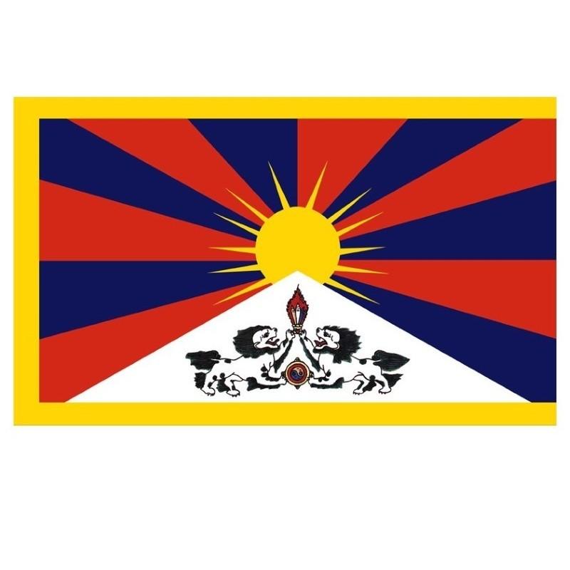 Drapeau tibétain double face 140 x 115 cm DT150