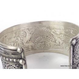 Large Bracelet tibétain FILIGRANE Bijoux tibetains bouddhistes  BHB2.2