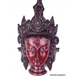 Grand Masque mural Tara Verte 38 cm MASKTV2