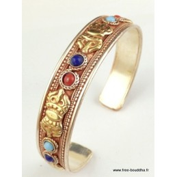 Bracelet tibétain Dorje Plaqué or BHB10.1