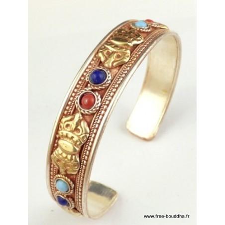 Bracelet tibétain Dorje Plaqué or