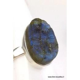 Bague Labradorite brute T 59 Bagues pierres naturelles AJE10.1