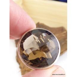 Bague chevalière en Quartz Fumé T 54 Bagues pierres naturelles AJE15.3