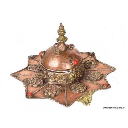 Brûleur d'encens tibétain Etoile