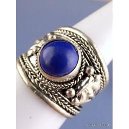 Bague tibétaine ornée d'un Lapis Lazuli ABT26