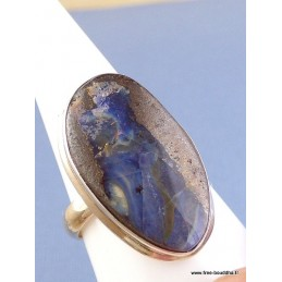 Bague ovale en Opale Boulder bleue T 63 GH46.3