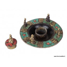 Porte-encens tibétain 5 Bouddhas ref 3032.10