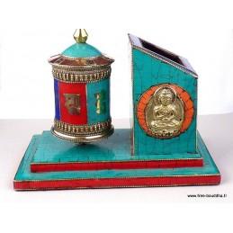 Set de bureau moulin à prières tibétain NMAP15