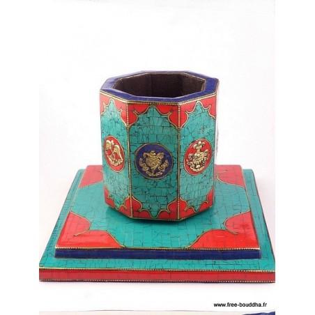 Porte-encens, porte-stylos tibétain