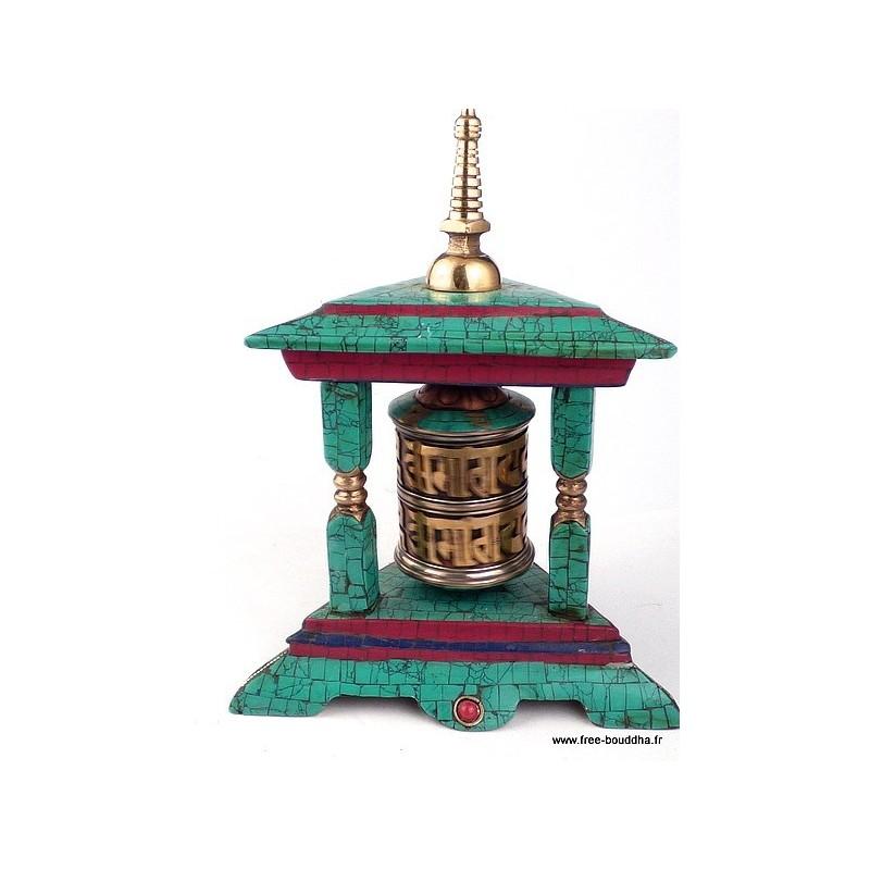 Moulin à prière bouddhiste forme temple NMAP17