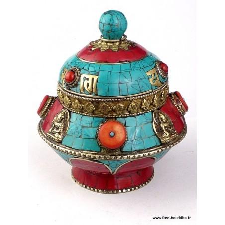Boîte à bijoux originale  sertie de pierres