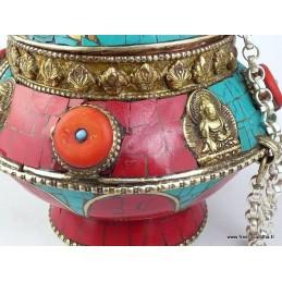 Boîte à bijoux originale sertie de pierres BAT5
