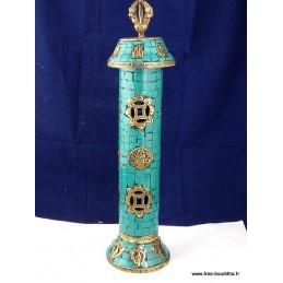 Porte encens bouddhiste en Turquoise BBRE3