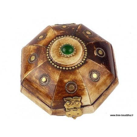 Boîte à bijoux népalaise en Os de Buffle