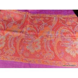 Châle en laine fine Fuschia Rouge CHALF9