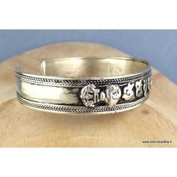 Bracelet tibétain orné d'un mantra Bijoux tibetains bouddhistes  ref152