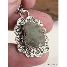 Pendentif style vintage Aigue-marine brute Pendentifs pierres naturelles BZ74.12