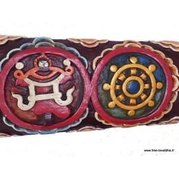 Sculpture bouddhiste 8 signes auspicieux TABB2