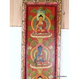 Tableau vertical 5 Bouddhas TABB1