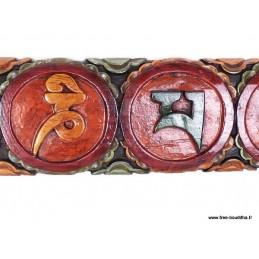 Sculpture bouddhiste Om mani pedme houm TABB3