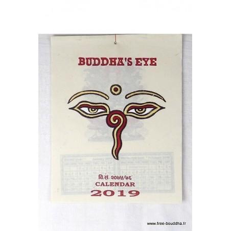 Calendrier Tibétain 2019 Yeux de Bouddha