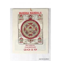 Calendrier Tibétain 2019 Bouddha Mandala CAL2