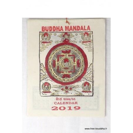 Calendrier Tibétain 2019 Bouddha Mandala
