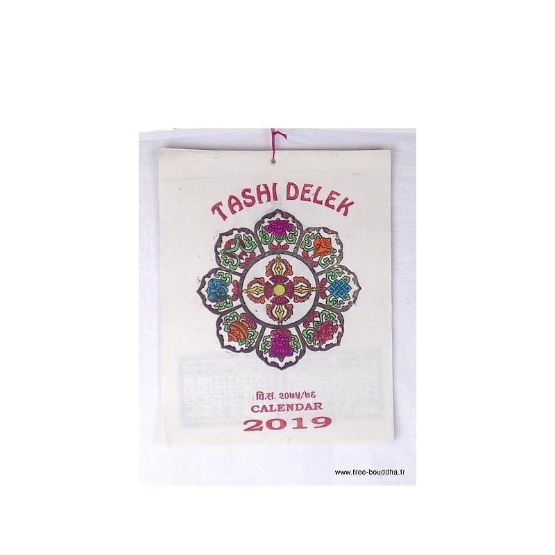 Calendrier Tibétain 2019 Tashi Delek CAL2