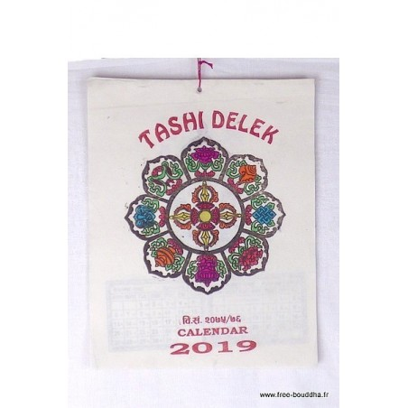 Calendrier Tibétain 2019 Tashi Delek