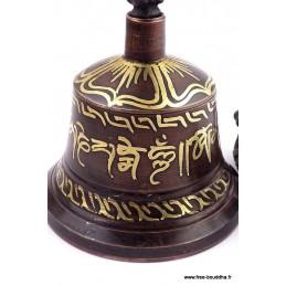 Cloche et dorjé tibétain 13 cm CD12