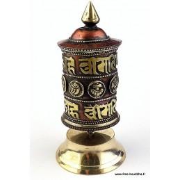 Moulin à prières tibétain mantra Signes auspicieux PMAP10