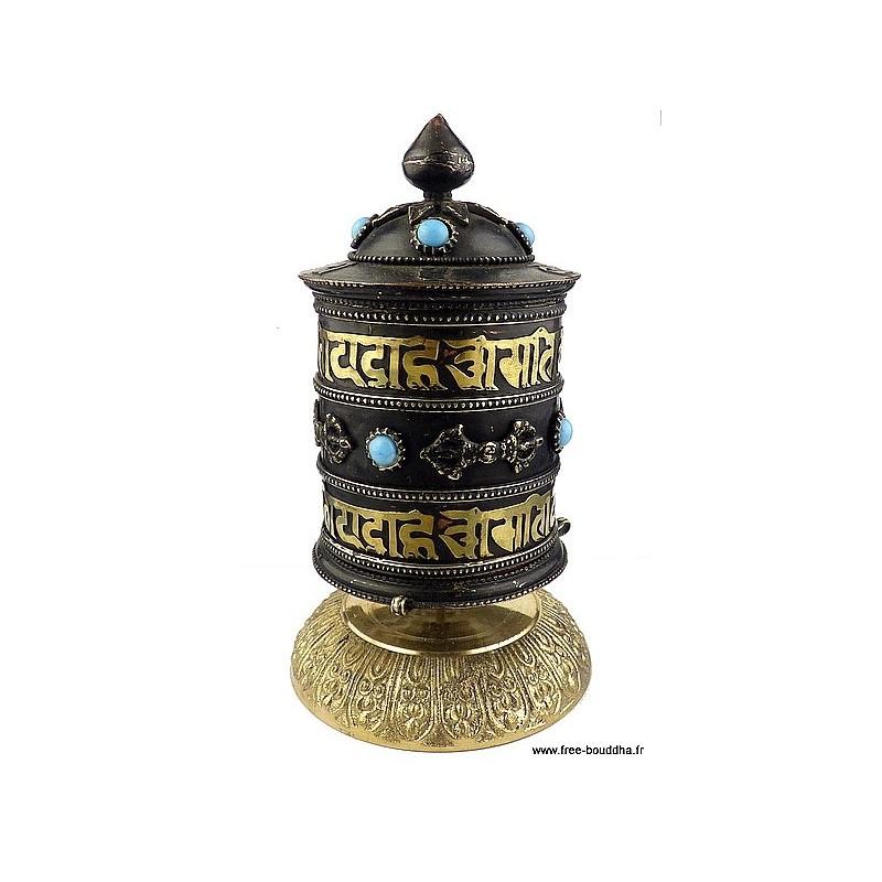 Moulin à prières tibétain Mantras Dorjes PMAP12