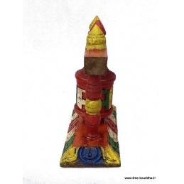 Petit moulin à prières en bois sculpté 6405.5