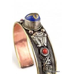 Bracelet Tibétain Yeux de Bouddha cuivre et métal Bijoux tibetains bouddhistes  NBR1