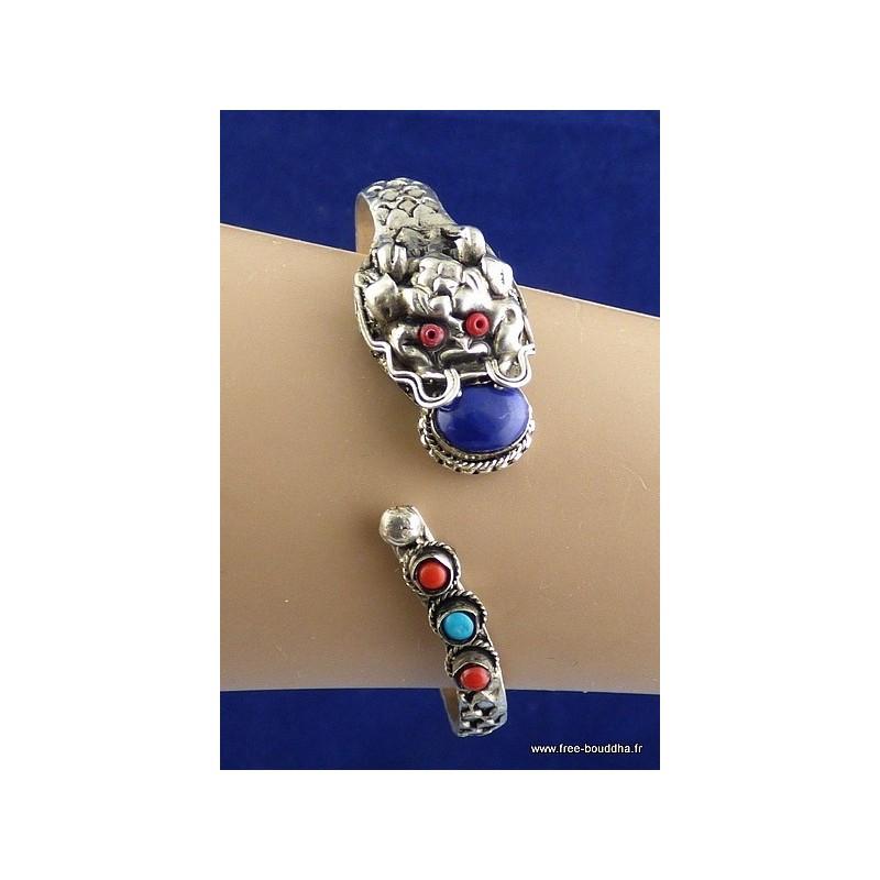 Bracelet Tibétain Dragon pierre fantaisie Bijoux tibetains bouddhistes  NBR2