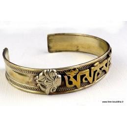 Bracelet Tibétain Mantra métal et laiton Bijoux tibetains bouddhistes  NBR3