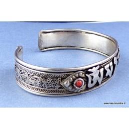 Bracelet Tibétain filigrane Mantra de Chenrezi Bijoux tibetains bouddhistes  NBR4
