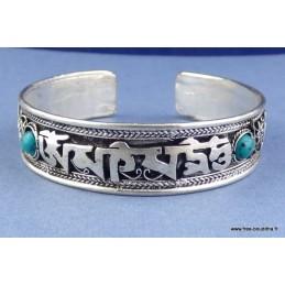 Bracelet tibétain MANTRA DE CHENREZI et perles Bijoux tibetains bouddhistes  ABT17.2