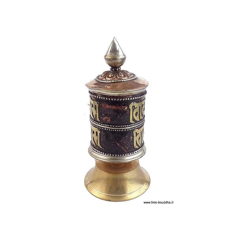 Petit moulin à prières bouddhiste (défaut) Objets rituels bouddhistes PMAP14