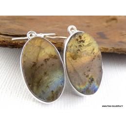 Boucles d'oreilles Labradorite jaune brute Boucles d'oreilles en pierres RV3.1